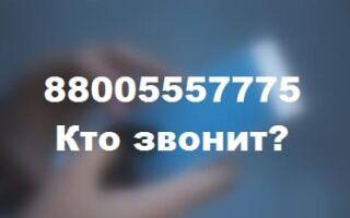 88005557775 — кто звонил с этого номер, чей телефон?