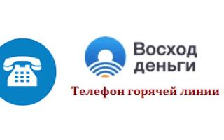 Телефон горячей линии МФО Восход Деньги