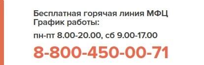 Телефон горячей линии МФЦ г. Тула
