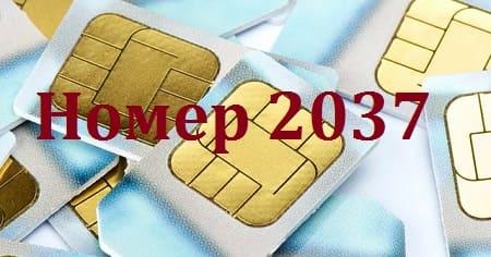 2037 проверка СИМ — что это за номер?