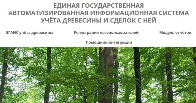 ЕГАИС ЛЕС - учет древесины и сделок с ней