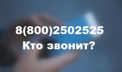 88002502525 — чей это телефон и кто звонит?