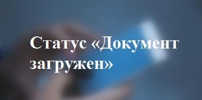 Значение статуса «Документ загружен» в системе ФСС